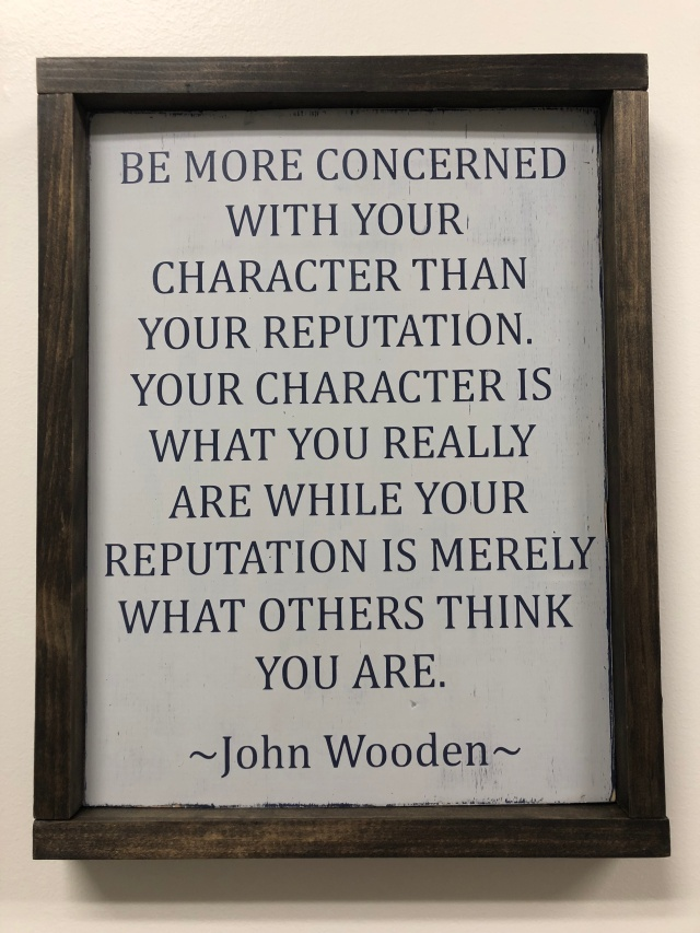 character quote wooden